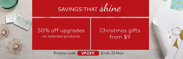 Savings that shine. Code VP2311.