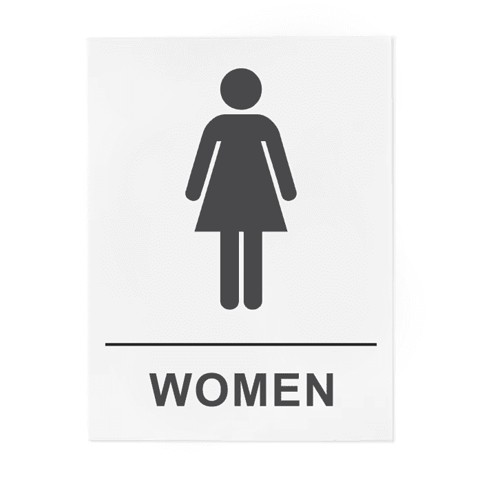 Women  Restroom Signs