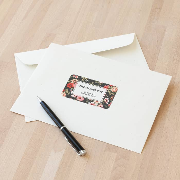 custom mailing labels at vistaprint