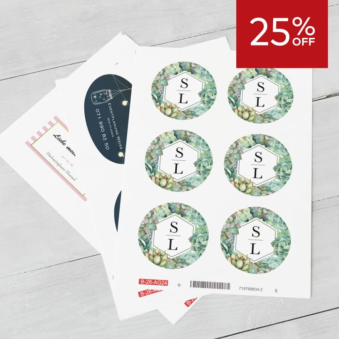 25% off stickers.