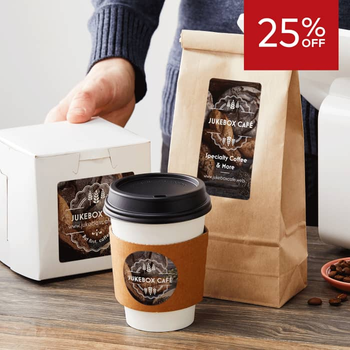 25% off labels.