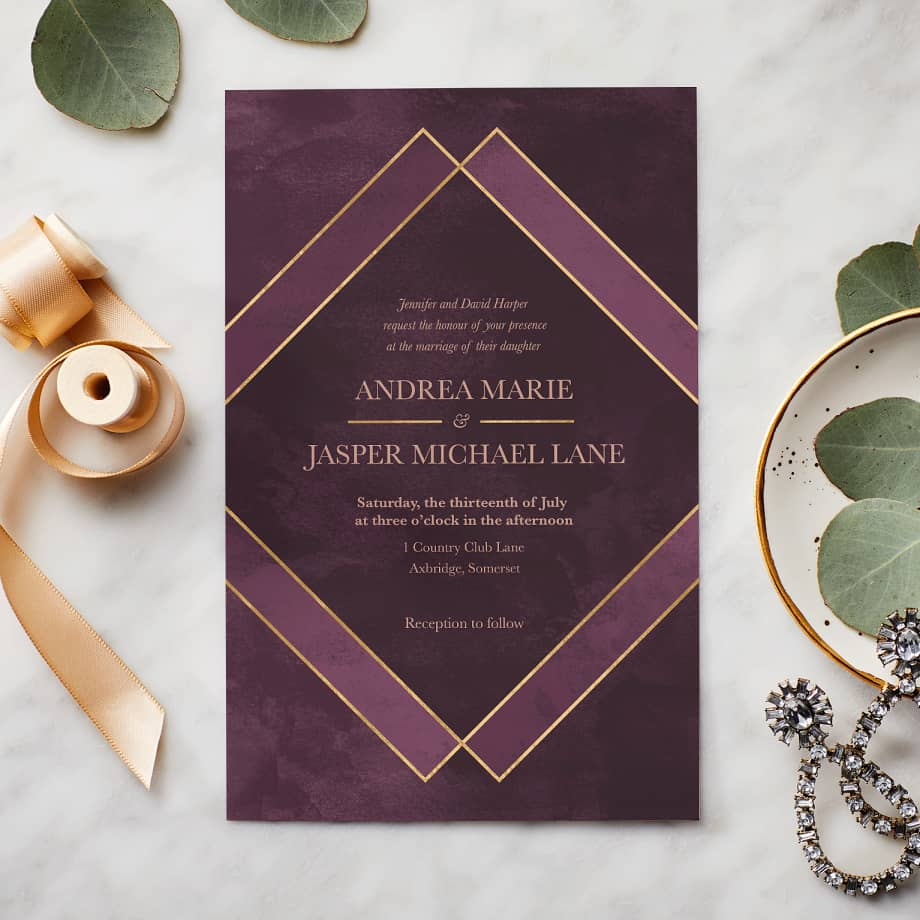 Cheap Print Your Own Wedding Invitations: Wedding Invitations & Custom Wedding Stationery