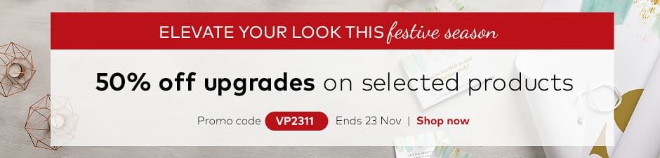 50% off upgrades on selected products. Promo code VP2311