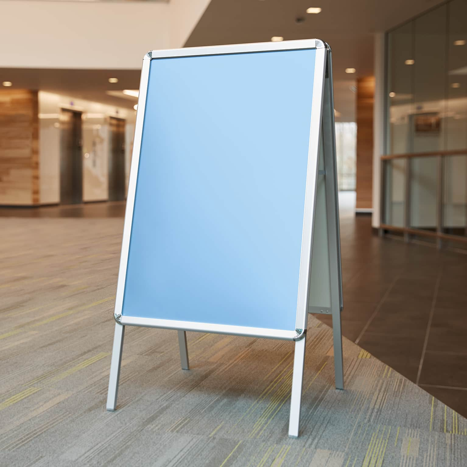 A frame stand for signs and posters vistaprint