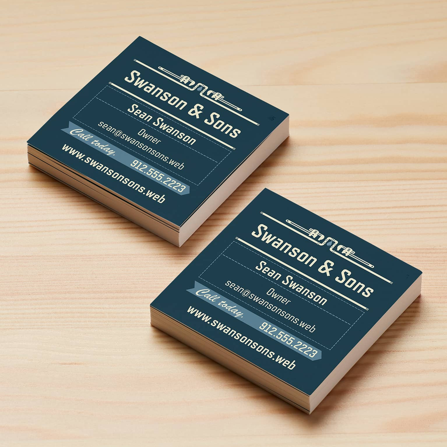 Square Business Cards Size 25 X