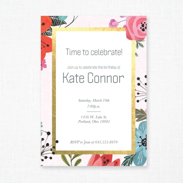 Custom Birthday Invitations, Personalized Party Favors