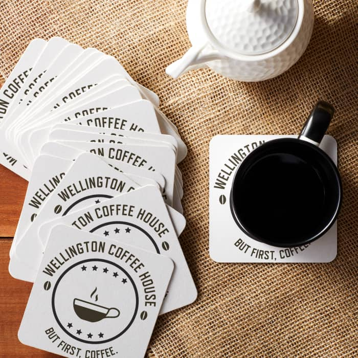 image relating to Printable Coasters named Paper Coasters