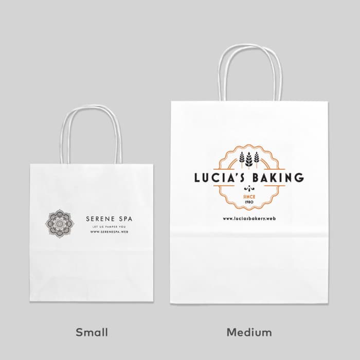 graphic about Printable Paper Bags titled Paper Baggage
