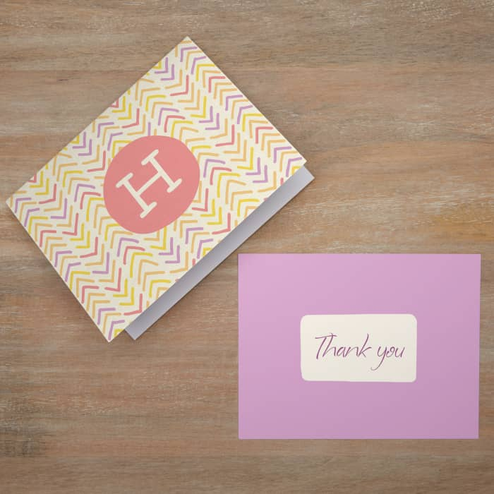 5 x Personalised Prints with Envelopes Christmas Gift Thank You Cards