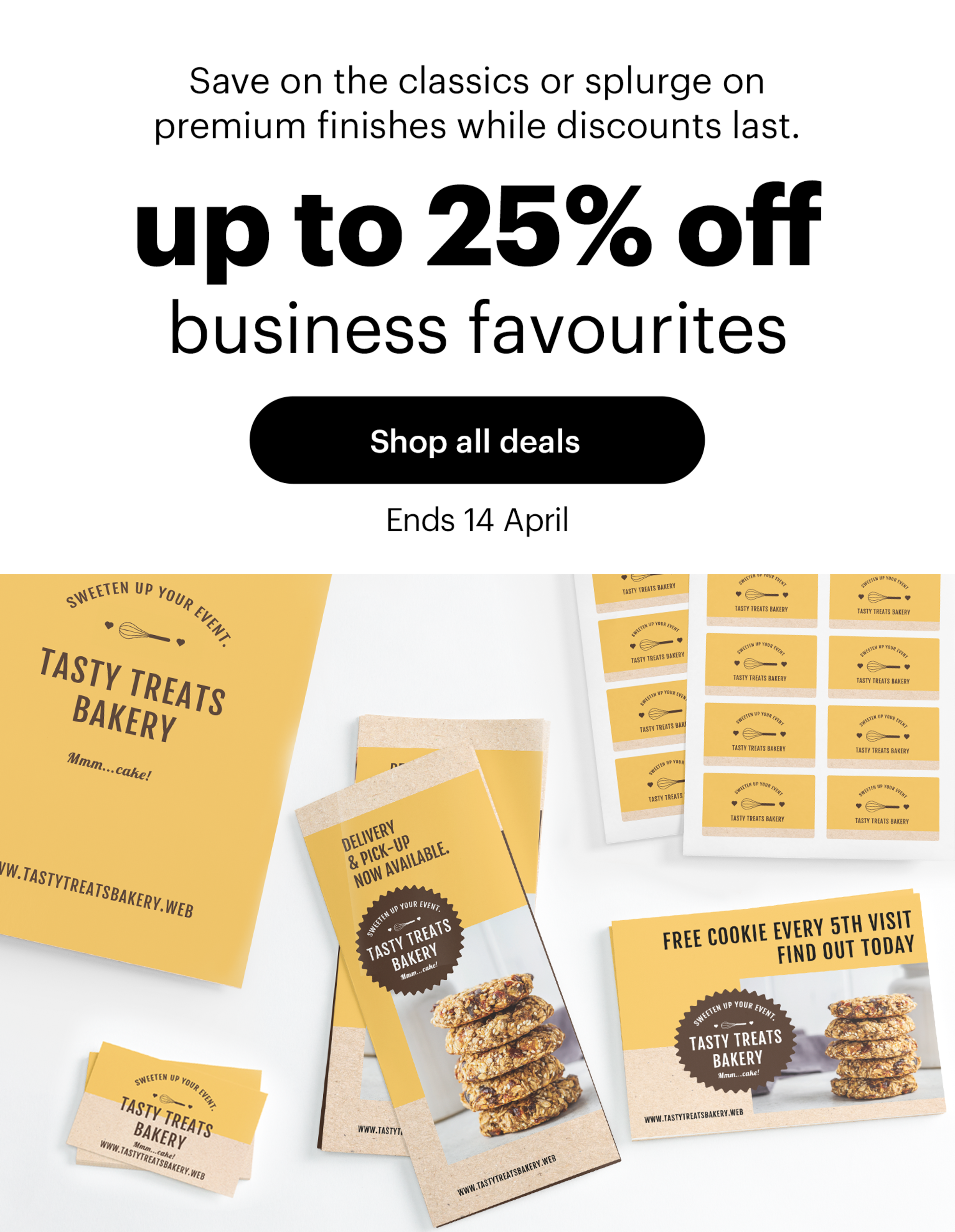 up to 25% off business favourites