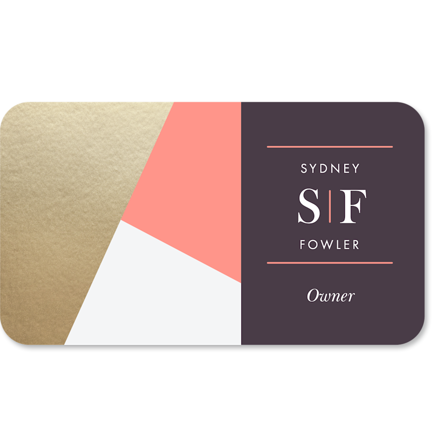 Rounded Corner Name Cards
