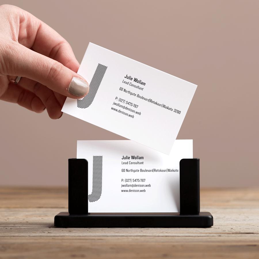 Steel Desk Business Card Holders