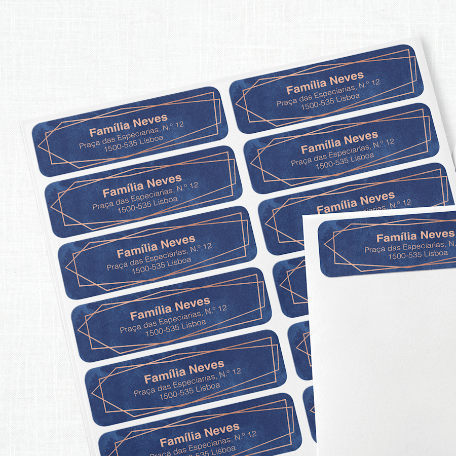 Etiquetas de endereço de retorno