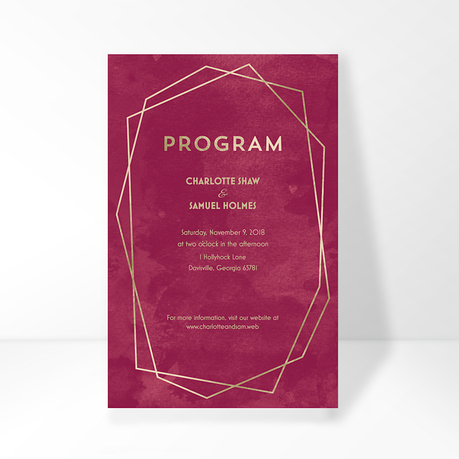 Wedding Programmes