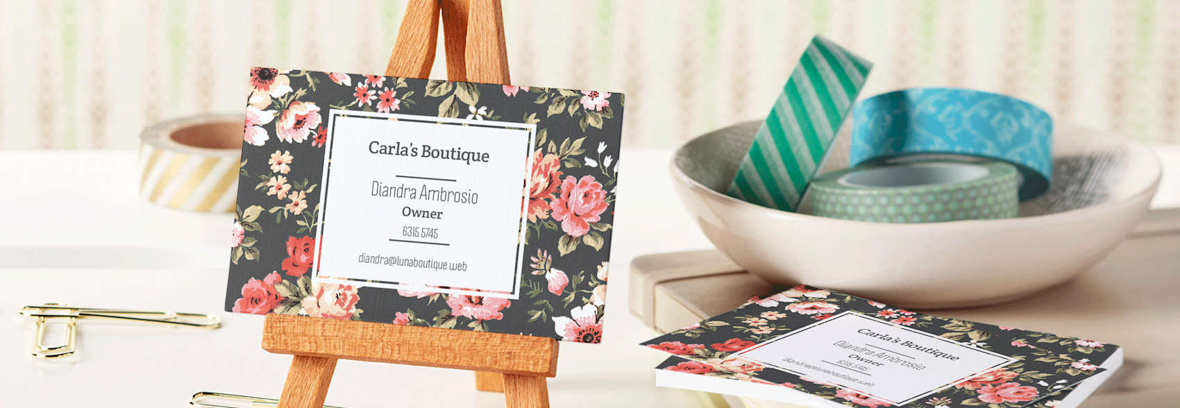 Name cards online
