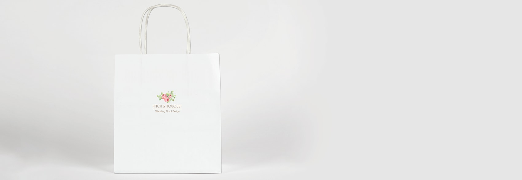 Printed paper bag with logo