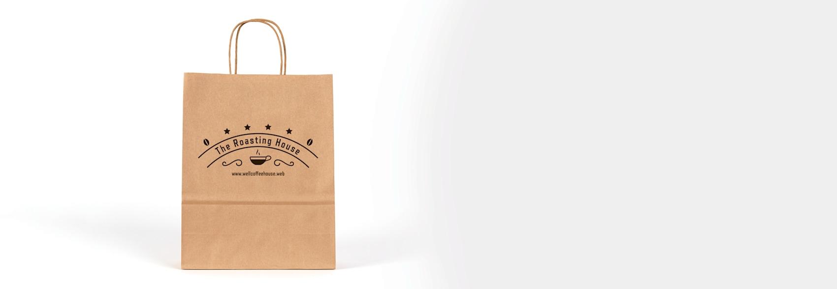 personalised kraft paper bag