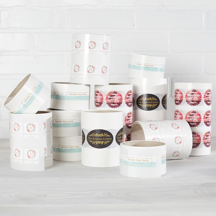 Stacked Roll Labels
