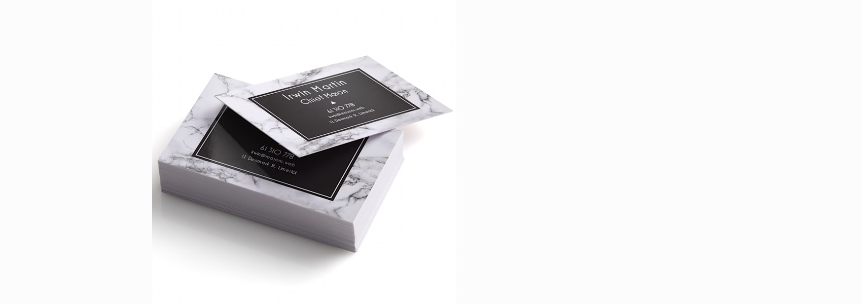 personalised glossy business cards  vistaprint