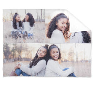 custom blanket with family photos