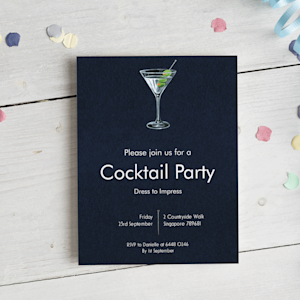 Party invitations and envelope
