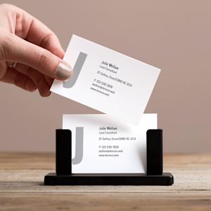 Steel Desk Business Card Holder