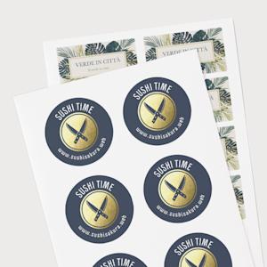 Adesivi personalizzati con logo