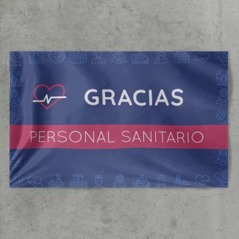 Bandera personalizada rectangular