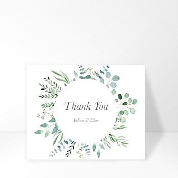 Wedding thank you card Image