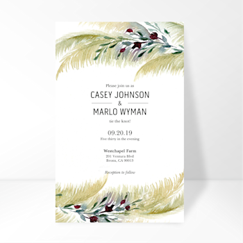 Wedding Timeline Invitation Image