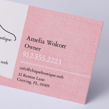 Business Card Linen