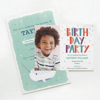 child birthday invites hub tile