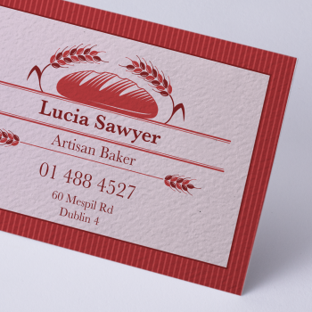 Business Card Textured Uncoated