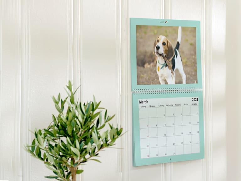 Personalised wall calendar