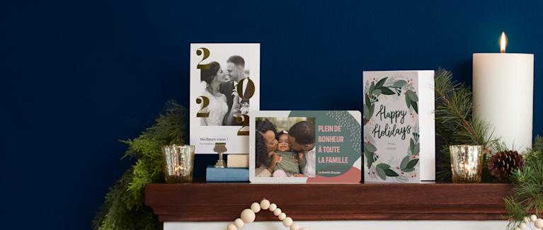 Cartes de souhaits et cartes de Noël personnalisées