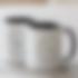 Custom mugs with black colour interior