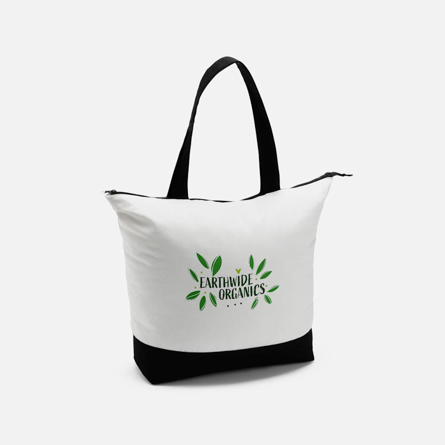 Vistaprint Large Zip Cotton Tote Bag