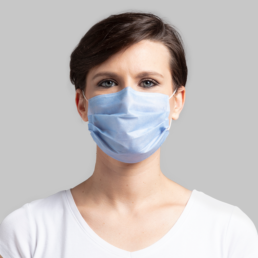 Blank Disposable Face Masks (Pack of 10)