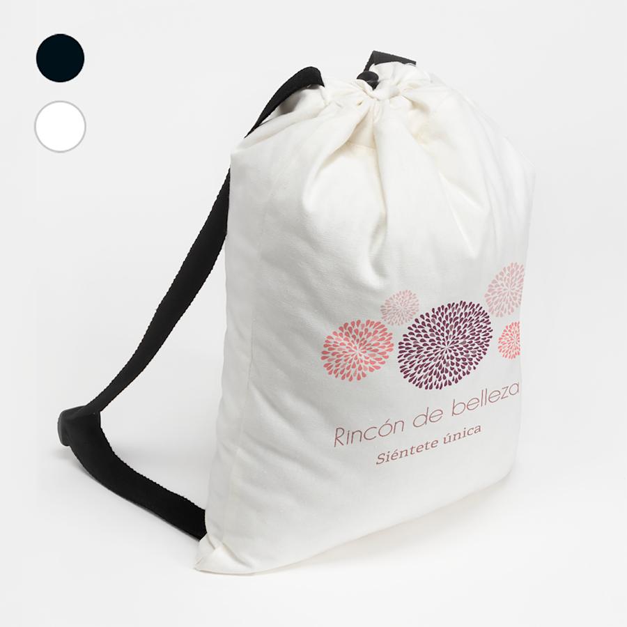 Mochilas saco de algodón
