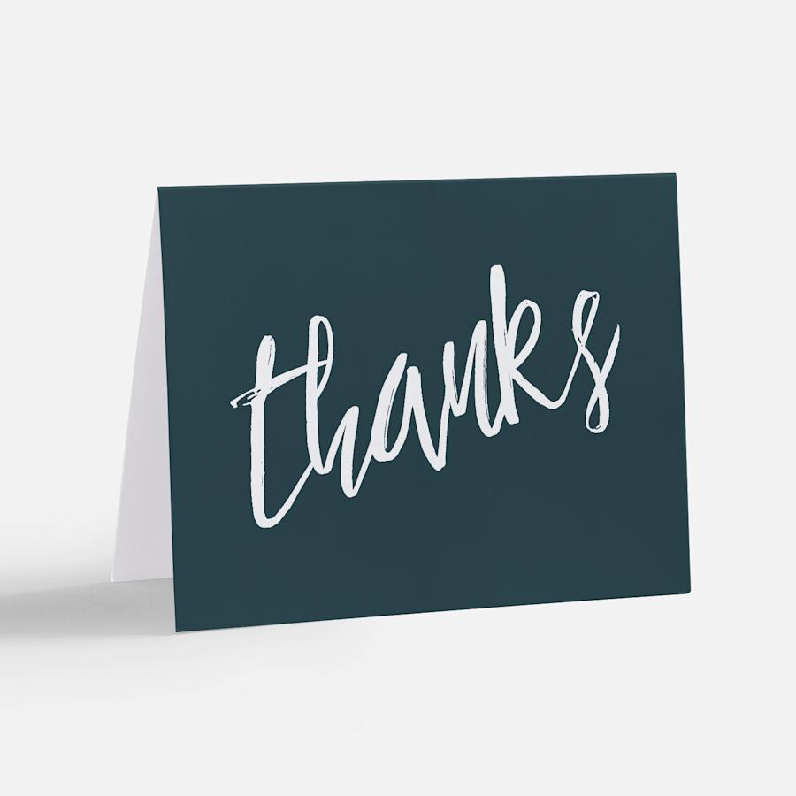 Cartes de remerciement personnalisées