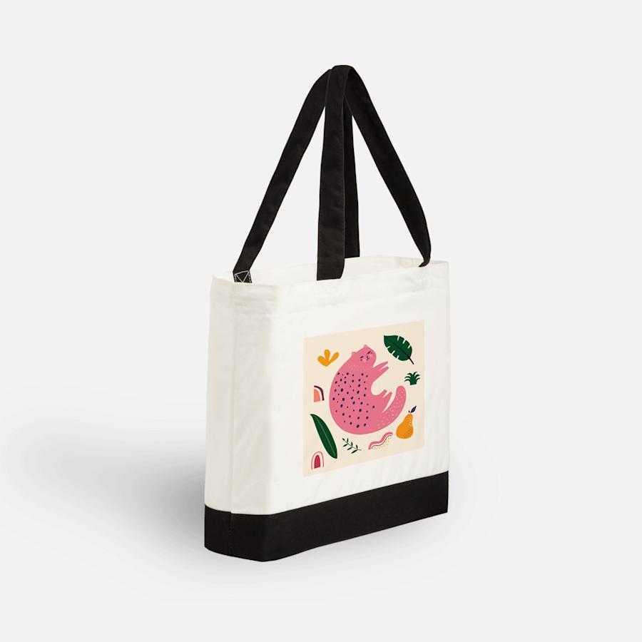 Grand sac fourre-tout en coton Vistaprint