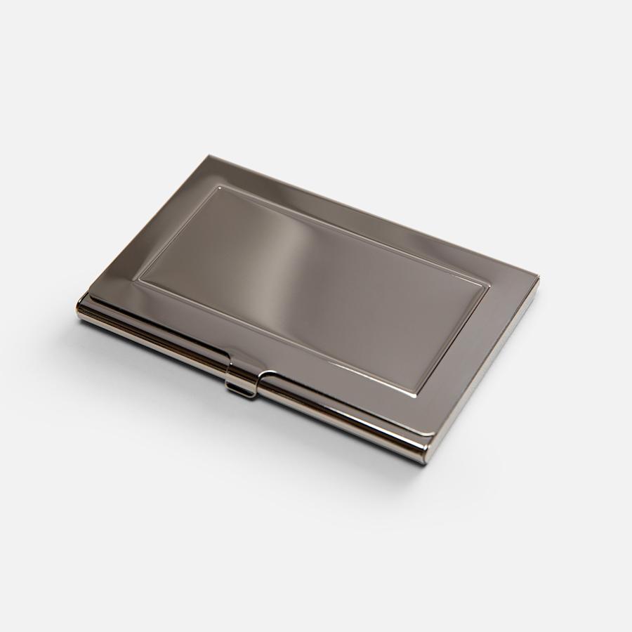 Porte-cartes d'affaires métallique
