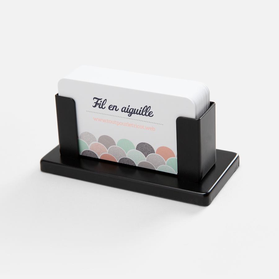Porte-cartes d'affaires de bureau en acier