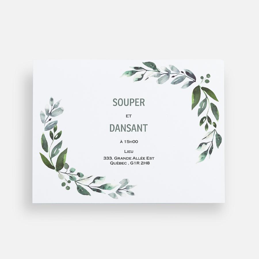 Cartons de réception de mariage