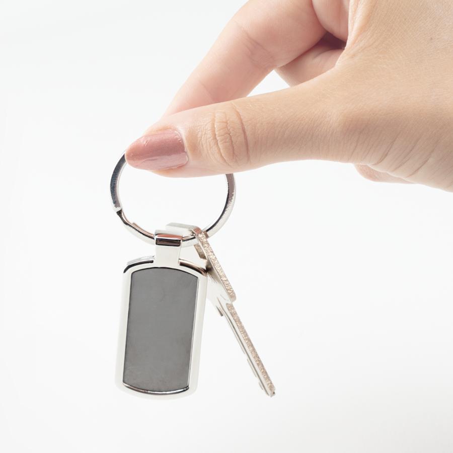 Porta-chaves retangulares com gravação