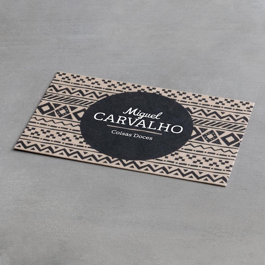 Cartões de visita em papel robusto