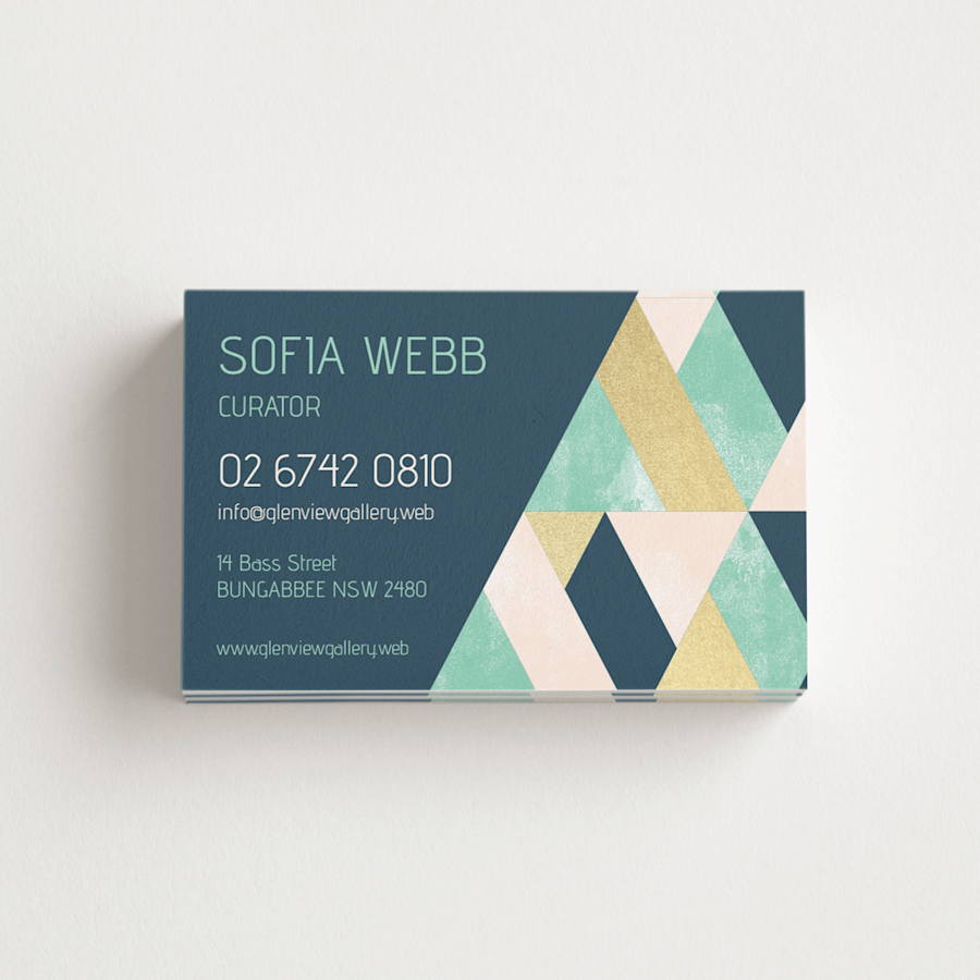 Soft Touch Laminated Business Cards