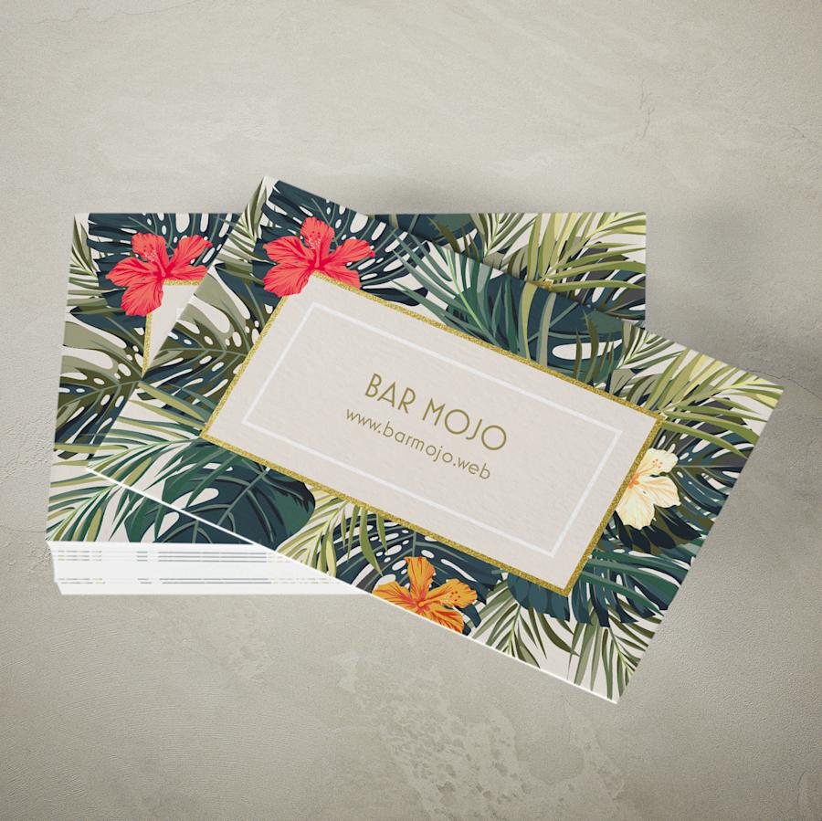 Cartões de visita em papel natural sem revestimento