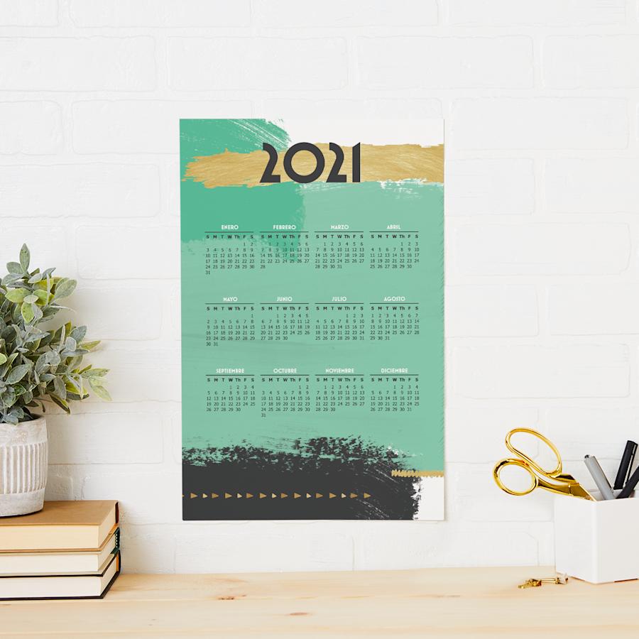 Calendarios tipo póster