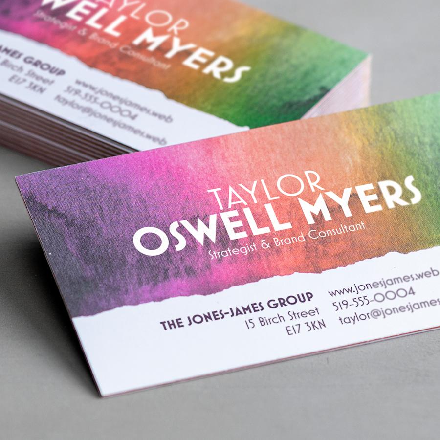 Triple Colour Layer Business Cards